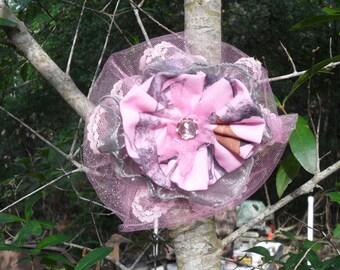 Pink Snowfall TrueTimber camo & lace country cuties hair clips!. Ready to Ship ! 5x5