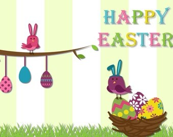 Happy Easter Greeting Card - 5x7