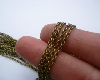 10m Links-Opened Cable Chain Antique Bronze  2mm x 3mm - CHN03B
