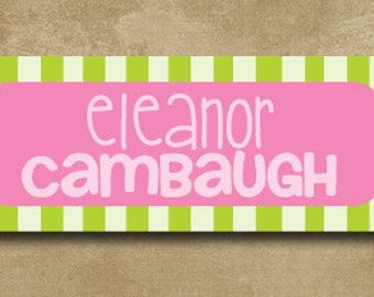 School Name Labels, Personalized Waterproof Stickers, Daycare Name Labels, Camp Stickers, Dishwasher Safe Labels