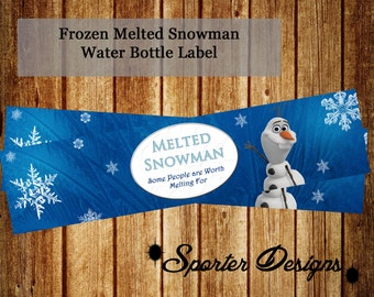 Frozen Water Bottle Labels -INSTANT-