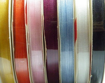 SPECIAL OFFER 1x 10 m Roll Organza Ribbon 3 mm - Various Colours