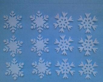 Die cut felt snowflakes
