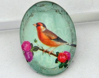 4pcs 30x40mm Oval Handmade Photo Glass Cabochon  ----G613