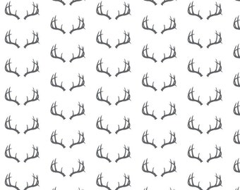 fitted crib sheet in black and white antlers, organic crib sheet, cotton crib sheet, baby sheet, toddler sheet, baby bedding, organic sheet