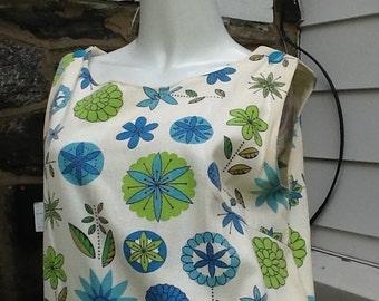 Sleeveless Dress Jumper Cotton Summer 1950s Vintage M/38