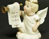 Small - Lenox, Away in a Manger -  Heralding Angel Nativity Figurine ..