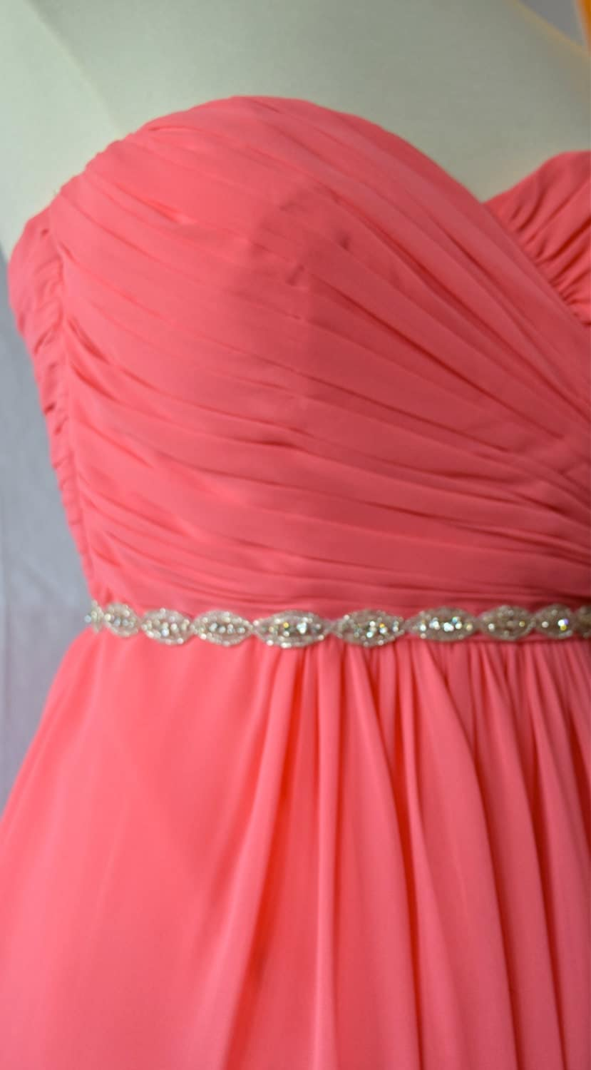 thin rhinestone belt bridesmaids belt bridal belt