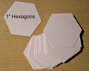 100 - 1 inch Hexagon Cardstock English Paper Piecing templates -