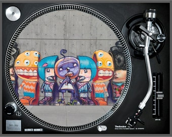 "Slipmat ""Graffiti"" dj turntables myslipmats streetart gifts music musicians hiphop rap hip-hop art vinyl record mat him her for awesome"