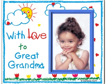 with love to great grandma picture frame gift