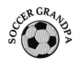 Soccer Grandpa Machine Embroidery Design 2 sizes
