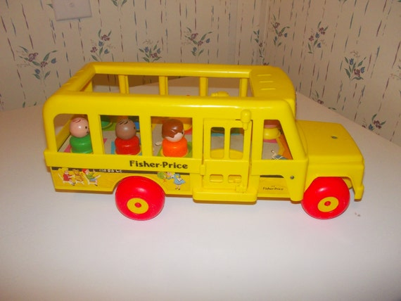 vintage fisher price bus by olderused on etsy. Black Bedroom Furniture Sets. Home Design Ideas