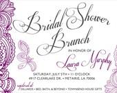 Bridal Shower Brunch Invitation Design: Printable