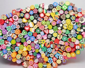Polymer Clay Fimo Canes · 100 Canes + Cutting Blade! Perfect for Nail Art, Polymer Clay, Scrapbooking, Resin