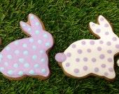 Easter Cookies - Polka Dot Bunnies x4