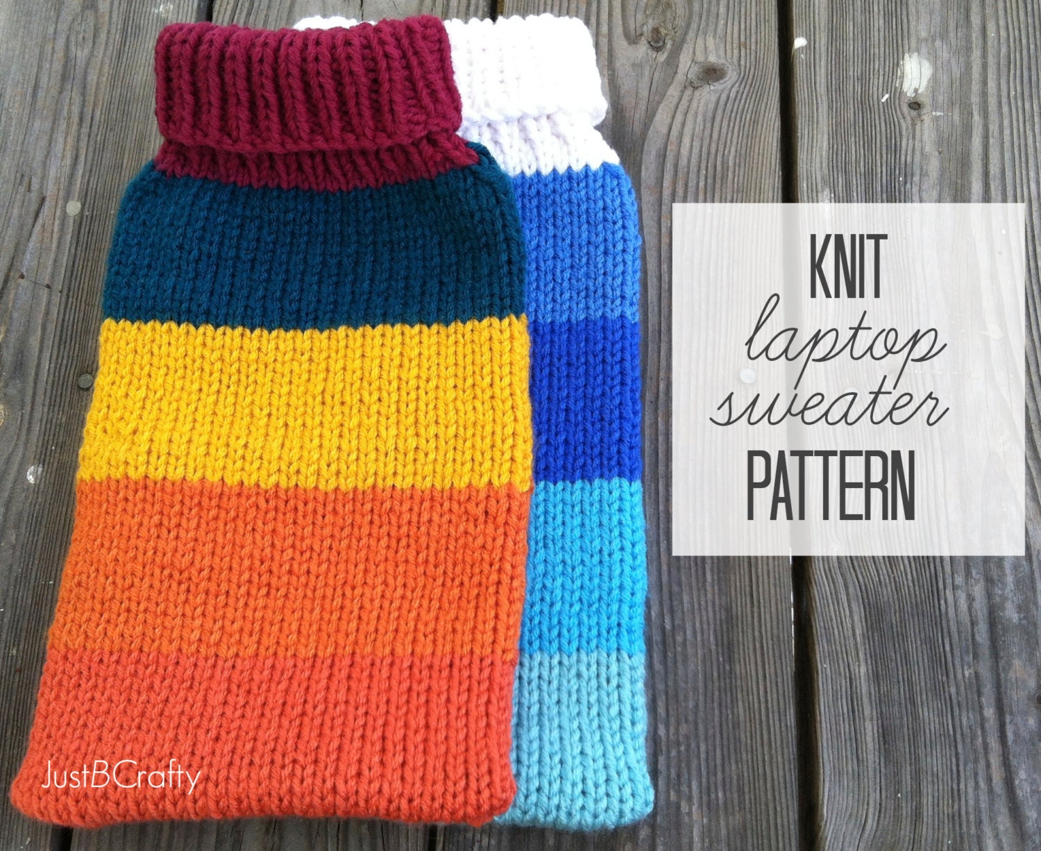 Laptop Bag Knitting Pattern : Knit Laptop Sweater Pattern Knit MacBook Air by JustBeCraftyShop