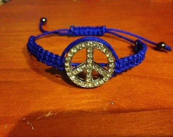 Peace Shamballa Bracelet
