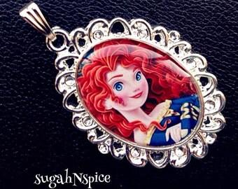 Disney's Princess Merida necklace pendant Princess Merida Princess Merida Brave Disney Princess necklace Merida pendant