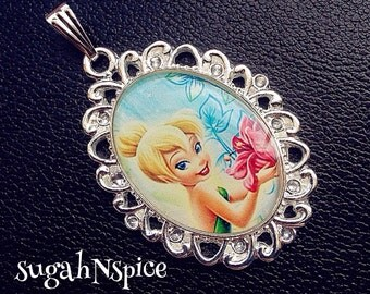 Tinkerbell Necklace Pendant Cabochon for Chunky Bubblegum necklaces Tinkerbell pendant Tinkerbell jewelry