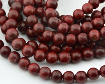 108PC  Deep Red  Rosewood  10MM  Mala Finding, Buddhism Bead