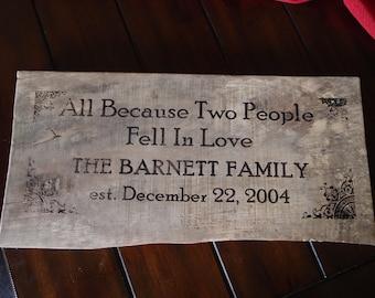 Barn Wood Est. Family Sign