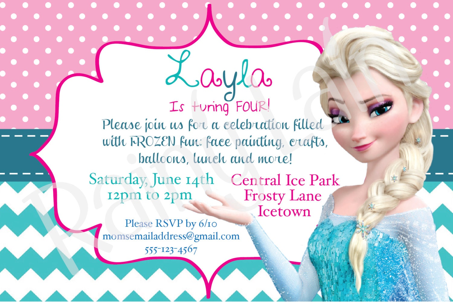 Frozen Birthday Invitation - Happy birthday invitation card design