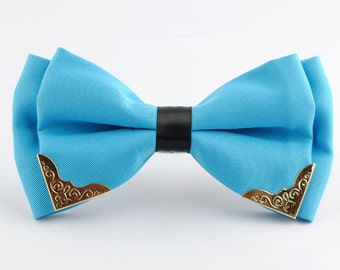 Silk Bow Tie.Mens Bow Tie.Wedding Bow Tie.Sky Blue Bow Tie  With Phnom Penh for Wedding