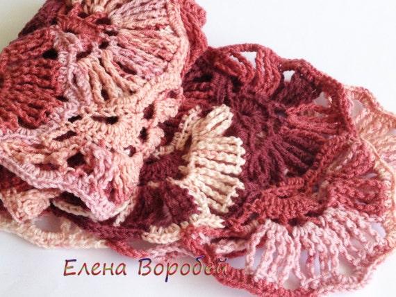 Knitting Pattern For Whisper Scarf : Scarf Whisper of foliage Crochet in crochetet by ElenaVorobey