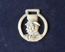 Antique Cast Horse Brass Cabbie (???)  Horse Tack Medallion Harness or Martingale Decoration