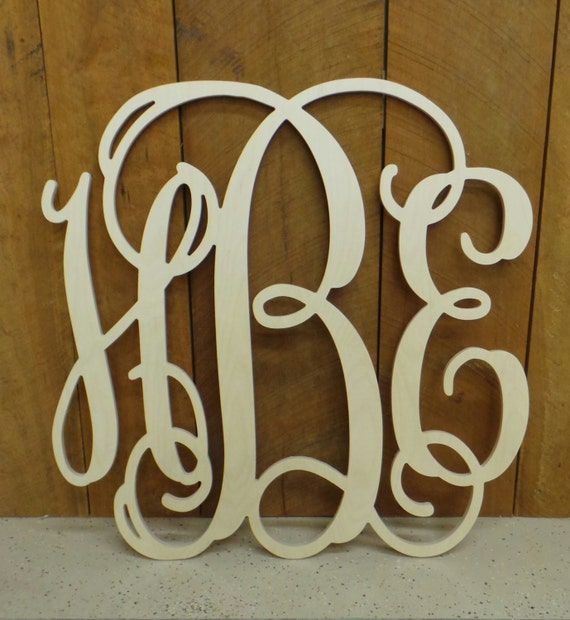 Wooden Monogram Monogram Wall Hanging Wedding By Letterworld