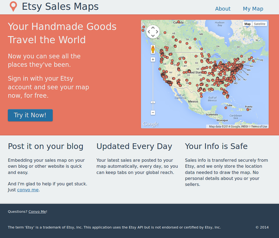 Sales map by grossvogel on etsy details about you and your customers are not stored or displayed by the app the pin locations are correct down to the zip code only so the street gumiabroncs Choice Image