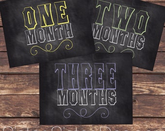 Monthly Baby Chalkboard Sign