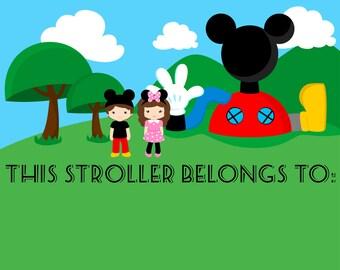 Disney Stroller Tag - INSTANT - digital file download - Perfect for Disney Park visits