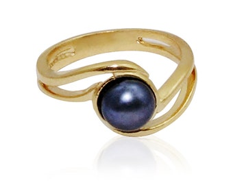 Pearl Ring  9k gold ring pearl jewelry  rings for women promise ring