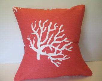 "Decorative Pillow Cover ""CORAL CORAL"""