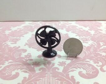 Dollhouse Miniature Vintage Black Metal Fan
