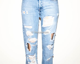 Levis Distressed High Waisted Boyfriend Jeans, Levi Vintage Destroyed Jeans, Levi Full Length Jeans, Levi Plus Size Jeans, Hipster Tumblr