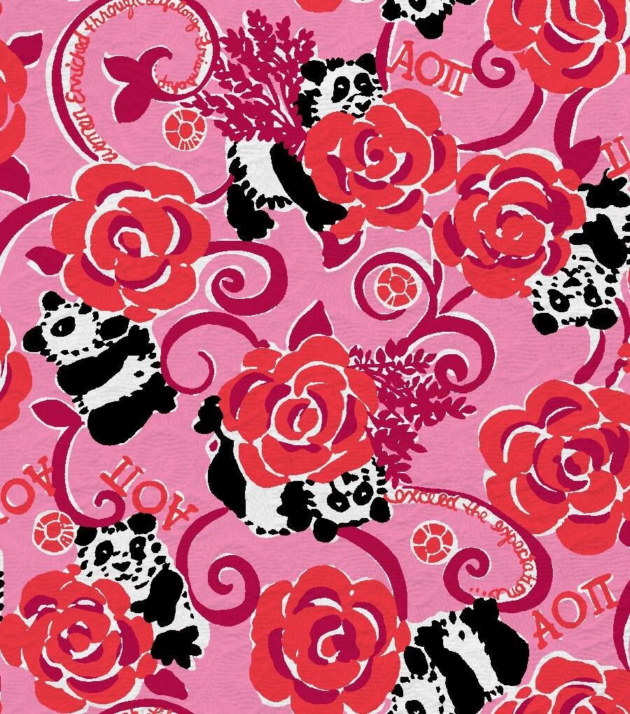 18 X 18 Or 1 Yard Lilly Pulitzer Sorority Fabric