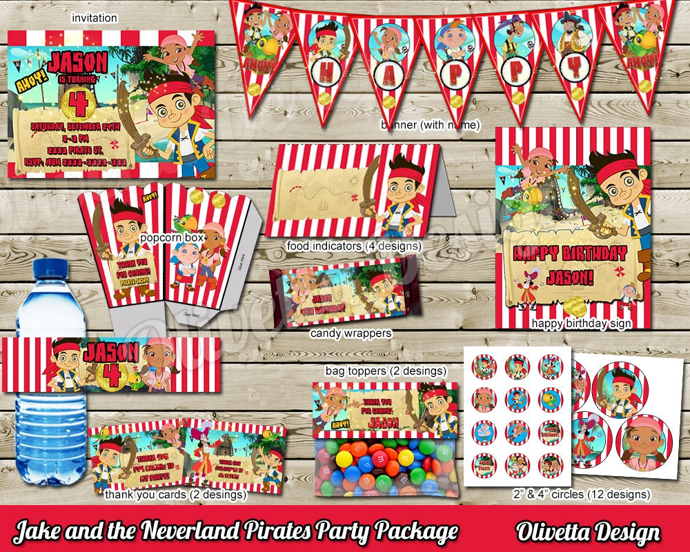 Jake and the Neverland Pirates Birthday Party Package