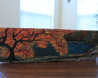 Made To Order Asian Tree In The Fall Landscape Painting