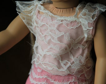 lace american girl doll shirt.