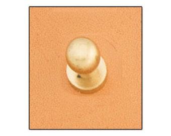 Button Stud 7mm Screwback Brass 11309-53