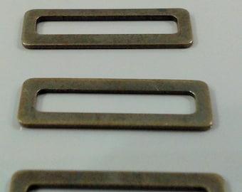 50 Pcs  Antique Bronze  6x19 mm Rectangular Findings