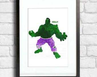 Hulk - Splatter Art
