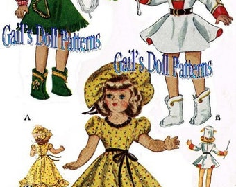 """Wardrobe Pattern for 16"""" Toni Doll and Other Similar Sized Dolls"""