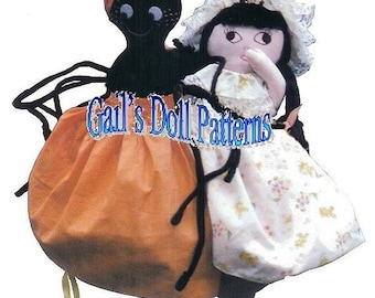 Little Miss Muffet & Spider Upside-down Doll Pattern