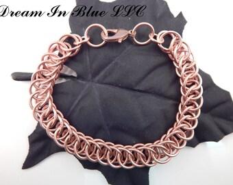 Solid Copper Half Persian 4 in 1 Bracelet or Anklet