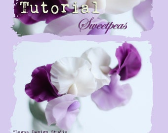 TUTORIAL Polymer Clay Sweet Peas Hand Sculpted  Lifelike Flowers Beads Charms PDF eBook