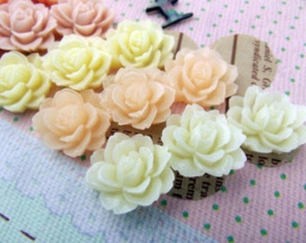 10pcs  Hairpin hair jewelry accessories, Resin flower cabochon for Pendant Charm Craft Jewelry.